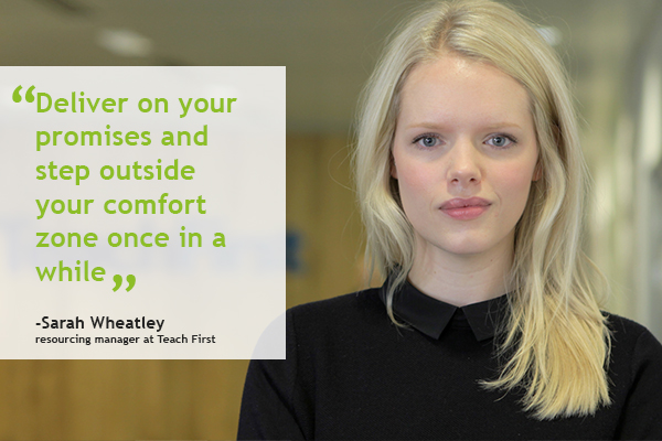 Career profile: Sarah Wheatley, resourcing manager, Teach First