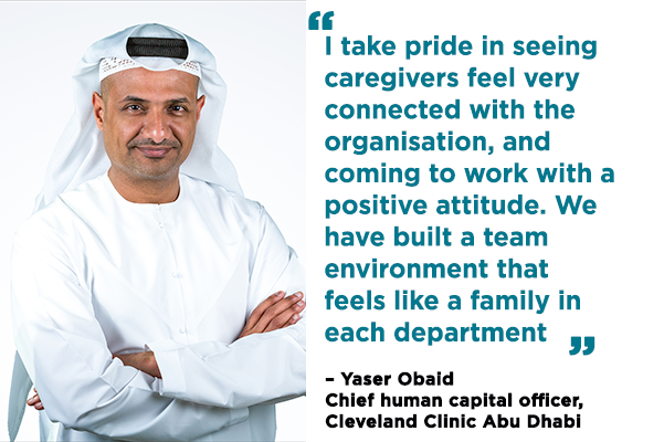 Career profile: Yaser Obaid, chief human capital officer, Cleveland