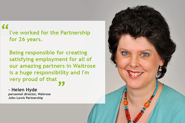 career profile helen hyde personnel director waitrose changeboard
